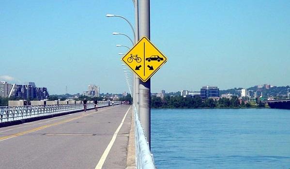 water off the bridge